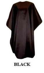 Iridescent Colored Water Repellent Shampoo/Cutting Capes-Black-w