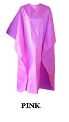 Iridescent Colored Water Repellent Shampoo/Cutting Capes-Pink-w