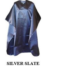 Iridescent Colored Water Repellent Shampoo/Cutting Capes-Silver Slate-w