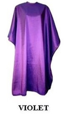 Iridescent Colored Water Repellent Shampoo/Cutting Capes-Violet-w