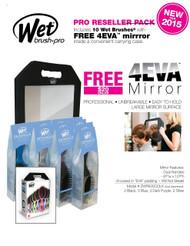 Pro Wet Brush Salon 10 Pack Deal Free 4Eva  Mirror