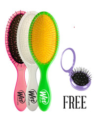 WET BRUSH SOLID COLORS DETANGLING BRUSH BUY 36  GET 12 FREE WET BRUSH GLOW SQUIRTS