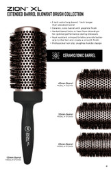 ZION™ XL EXTENDED BARREL BLOWOUT BRUSH COLLECTION - 4 PC SET