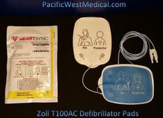 Zoll Adult Defibrillator Pads - T100AC-Zoll Radiolucent HeartSync