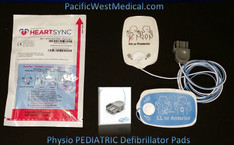 Physio Pediatric Defibrillator Pads -Pediatric Physio HeartSync