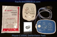 Physio Adult Defibrillator Pads (Sterile) - C100AC-Physio Radiotransparent  HeartSync