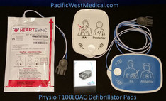 Physio Adult Defibrillator Pads (Leads-Out) - T100LOAC-Physio Radiolucent HeartSync