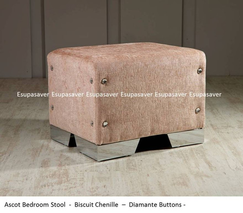 bedroom stool. Ascot Bedroom Stool  Available in Crush Velvet Chenille Linen or Faux Suede Fabrics