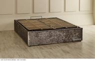 Austin ottoman base silver crush velvet