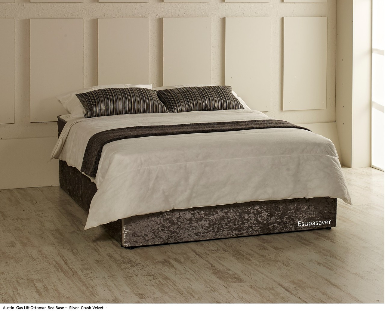 Albany gas lift ottoman bed base single small double for Single bed base
