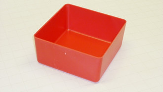 "6"" x 6' x 3"" Red Plastic Box for Tool Box Organizer"