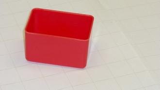 "2"" x 3"" x 2"" Red plastic tool box organizer box"