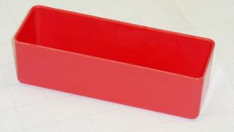 """2"""" x 6"""" x 2"""" Red plastic tool box organizer bins"""