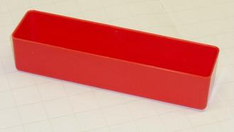 "2"" x 8"" x 2"" Red plastic tool box organizer box"