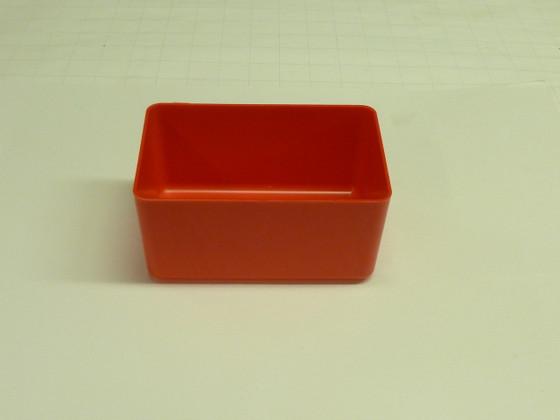 Acrylic Box 4 X 4 : Quot red plastic box