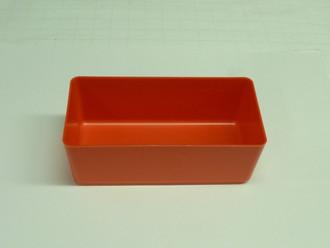 """4"""" X 8"""" X 3"""" RED PLASTIC BOX (ACTUAL DIMENSIONS: W 3.875"""" X L 7.875"""" X H 2.75"""" )"""