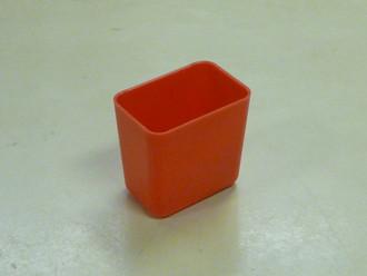 """2"""" x 3"""" x 3""""  Red Plastic Box (Actual dimensions: W 1.95 X L 2.9 X H 2.75)"""