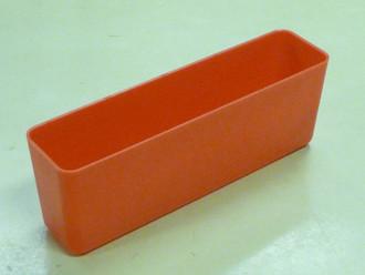 """2"""" x 8"""" x 3"""" Red Plastic Box (Actual dimensions: W 1.95 X L 7.9 X H 2.75)"""