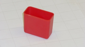 "1"" x 2"" x 2"" Red Plastic Box"