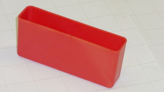 "1"" x 4' x 2"" Red Plastic Box"