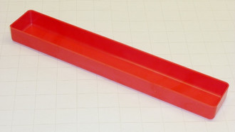 "2"" x 12"" x 1"" Red Plastic Box"