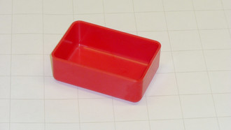 "2"" x 3"" x 1"" Red Plastic Box"