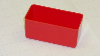 "2"" x 4"" x 2"" Red Plastic Box"