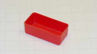 "1.5"" x 3"" x 1"" Red Plastic Box"