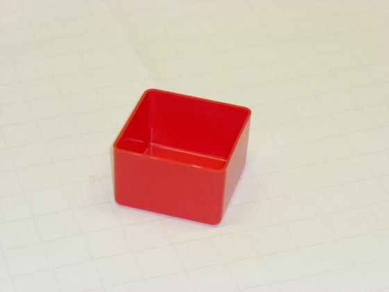 """3"""" x 3"""" x 2"""" Red Plastic Box"""