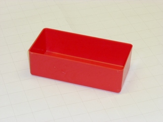 "3"" x 6"" x 2"" Red Plastic Box"
