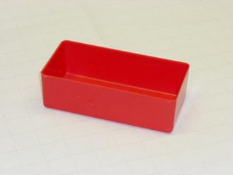 """3"""" x 6"""" x 2"""" Red Plastic Box"""