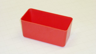 "3"" x 6"" x 3"" Red Plastic Box"