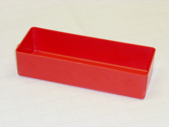 "3"" x 8"" x 2"" Red Plastic Box"