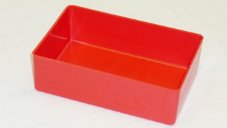 "4"" x 6"" x 2"" Red Plastic Box"