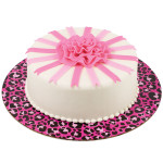 """Pink Leopard Cake Board 12"""""""