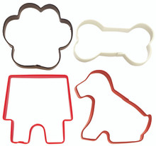 4 Piece Pets Cookie Cutters