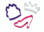 3 Piece Princess Cookie Cutter Set