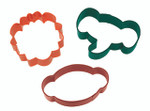 3 Piece Jungle Pals Cookie Cutter Set