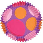 Pink/Purple/Orange Dots ColourCups Baking Cups