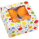 4 Cavity Circles Cupcake Box