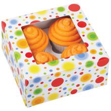 4 Cavity Circles Cupcake Box