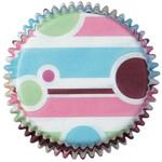 Mini Bubble Stripes Baking Cups