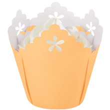 Peach Flower Pleated Baking Cups