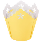 Yellow Flower Pleated Baking Cups