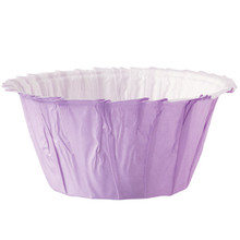 Lavender Ruffled Baking Cups