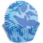 Blue Camo Baking Cups Mini
