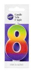 Numeral 8 - Rainbow Candle