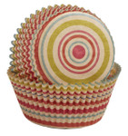Unbleached Stripe Baking Cups