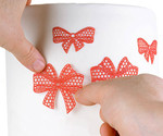 White Tricot Decor Ribbon