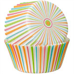 Multi-Colour Stripe Baking Cups - Standard